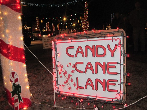 Candy Cane Lane in St. Louis, MO