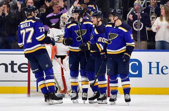 Blues tie club record with ninth straight home win, 4-1 over Ducks,