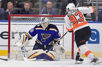 Blues' nine-game home winning streak snapped with 4-3 overtime loss to Flyers,