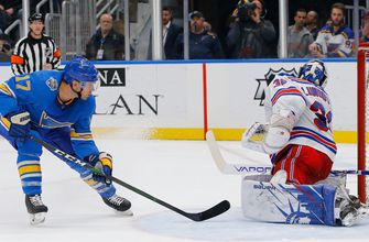 Blues use flurry of offense to push past Rangers 5-2,