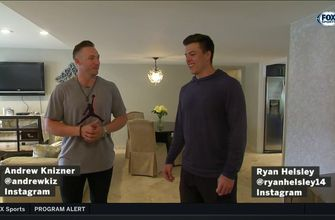 Jim Hayes checks out Ryan Helsley and Andrew Knizner's spring training digs,