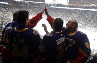 Blues dads providing a steadying presence after Bouwmeester's traumatic incident,