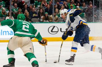 Blues dominate in battle for first place, beat Stars 5-1,