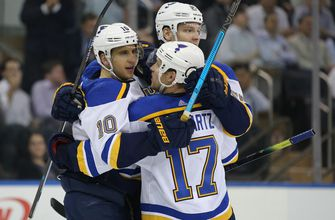 Blues' streak reaches eight games with 3-1 victory over Rangers,