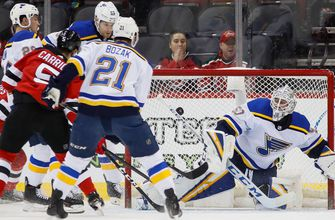 Blues' win streak ends at eight games with 4-2 loss to Devils,