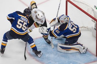 Blues lose second game of round-robin play, fall to Golden Knights 6-4,