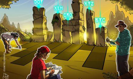 Top 5 cryptocurrencies to watch this week: BTC, DOT, CRO, XEM, XTZ
