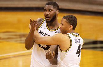 Tilmon's last-second basket rallies No. 14 Missouri to 54-53 win over Bradley,