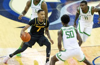 Pinson catches fire after halftime as Mizzou beats Oregon 83-75,
