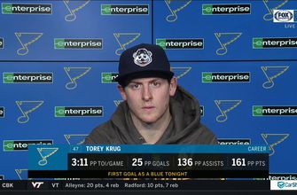 Krug on his first Blues goal: 'Hopefully it's the first of many',