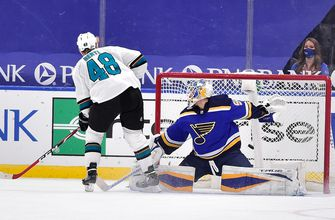 Blues fall 2-1 to Sharks in shootout,