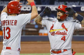 Yadi's HR, Carlson's slam help Cards complete sweep with 7-0 win over Marlins,