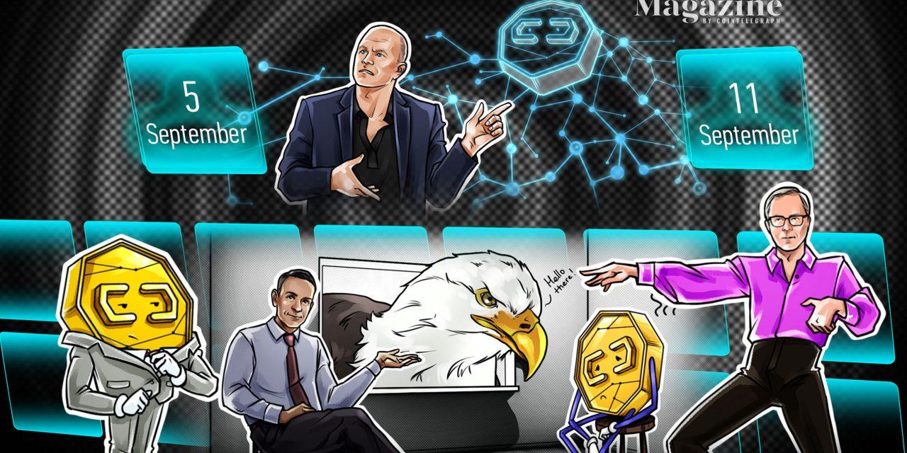 El Salvador buys the dip as Bitcoin Law goes live, 101 Bored Ape NFTs sold for $24M, Ukraine passes crypto legislation: Hodler's Digest, Sept. 5-11
